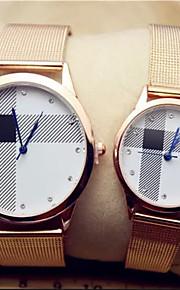 liga de ouro relógios de pulso de quartzo analógico do casal
