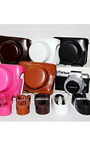 dengpin pu læder kamerataske taske dække med skulderrem til Panasonic gf7 med 12-32mm linse (assorterede farver)