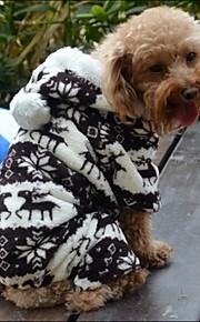 Casacos/Calças/Camisola com Capuz - Marrom/Cinzento - de Malha polar - Casamento/Fantasias - para Cães/Gatos