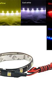 ding yao 0.3m 12LED hvit / rød / blå / gul fleksibel LED lys strimler DC12 v