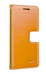 vaca uwei billetera de cuero caso de cuerpo completo con soporte para Huawei htc uno (M7)