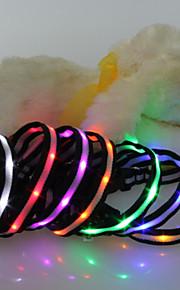 Collari - di Nylon - Rosso / Verde / Blu / Rosa - Luci a LED