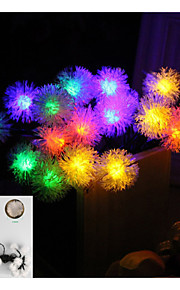 4.8m 20-ledede solenergi chuzzle ball løvetann vanntett string lys hage julebord dekorasjon