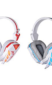 HiFi con gioco microfono cuffie cablate di controllo del volume abbagliamento auricolari a cancellazione di rumore cuffie surround, bassi