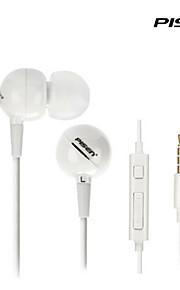 삼성보다 흰색에 대한 원격 및 마이크와 pisen 인 - 이어 스테레오 이어폰 고급 버전 유선 이어폰