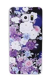 модно окрашены цветок горный хрусталь мир шт жесткий футляр для Samsung Galaxy S6 границы плюс