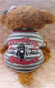 Gris - Cebra - Algodón - Camiseta - Perros -