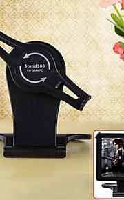 """아이 패드 / 7 """"-10""""태블릿 PC에 대한 360도 회전 접이식 홀더 - 블랙"""