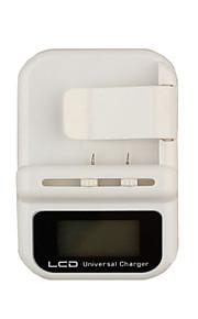 noir blanc chargeur de batterie universel avec écran afficheur LCD et un port USB pour les téléphones cellulaires