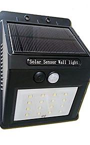 16led solcellepanel drevet motion sensor lampe utelys hage sikkerhet lys