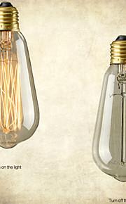 retro vintage e27 kunstnerisk lyspæren industriell gløde 40W