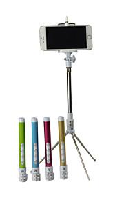 høj kvalitet luxuy foldbar multi-funktion zoom kulfiber trådløs Bluetooth selfie stick stativ størrelse: 28x15x4cm