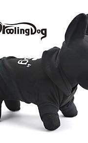 Negro - Cosplay - Algodón - Saco y Capucha - Perros/Gatos -