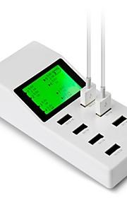 사과 iphone4에 / 5 / 5S / 6 / 플러스 아이 패드 태블릿 요금 capshi 전화 / 데이터 케이블 삽입 된 행 8 개의 USB 충전기