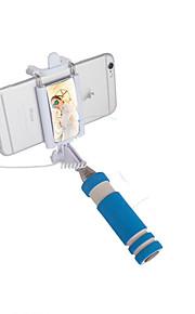 kabel udvides foldbar monopod selfie-stick med spejle til mobiltelefoner og kamera størrelse: 17x4.8x3.5cm