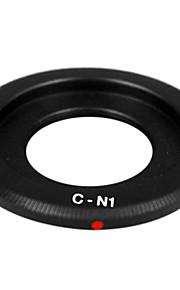 16 milímetros preto c-mount lentes filme cine para Nikon 1 J1 montar v1 v2 j2 j3 v3 j4 câmera anel adaptador de lente c-n1 c-1 nikon