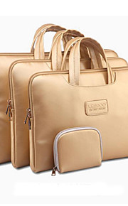 """Gold Portable Carry Sleeve Bag Case Laptop with Little Bag for Macbook Pro/Pro Retina ThinkPad DELL Samsung 13"""" 14"""" 15"""""""