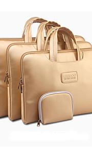 """guld bærbare carry ærme pose tilfældet laptop med lille taske til MacBook Pro / Pro nethinden thinkpad dell samsung 13 """"14"""" 15 """""""