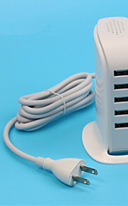 30W 5 Port  USB  Power Adapter  for Tablets / Smartphone