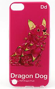 modello pittura cane drago TPU custodia morbida per il tocco 5 / touch 6