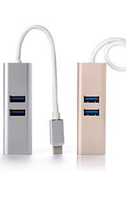 carga de transferencia de datos hub de carga 2 en 1 concentrador de tipo macbook c para usb3.0 (color clasificado)