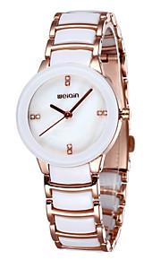 weiqin® keramiske band kjole ure kvinder luksus krystal rhinestone rosa guld mærke ur dame mode armbåndsur