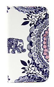elefantti kuvio PU nahka puhelin kotelo Samsung Galaxy J1 (2016) / galaxy J5 (2016)