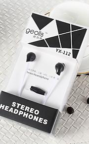 GEOLIS YX-112 3,5 millimetri di alta qualità a cancellazione di rumore microfono in trasduttore auricolare dell'orecchio per il iphone ed