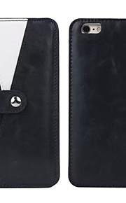 granatsplinter beslag magnetiske aftagelige ægte læder pung tilfælde med kortpladser til iPhone 6 + / iPhone 6s +