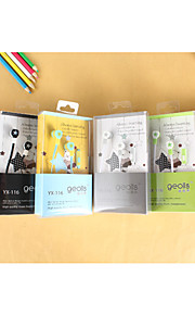 Geolis YX-116 High Quality 3.5mm Noise-Cancelling Mike In Ear Earphone for iPhone and Other Phones(Assorted Colors)