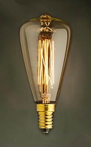 e14 40w st48 gul lyspære Edison liten skrue cap retro lysekrone dekorative lyspærer