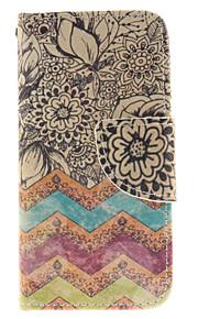 fiori disegno cuoio dell'unità di elaborazione caso corpo pieno di slot per schede e stand copertura di TPU per il tocco 5