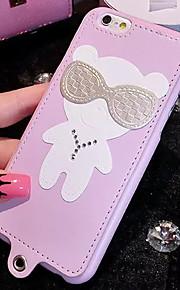 lady®cartoon telefon tilfælde / Cover til iPhone 6 / 6s, dekoreret med pu læder og silicagel materiale, flere farver