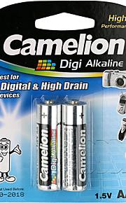 camelion digi alkaline primaire batterijen AA (2 stuks)