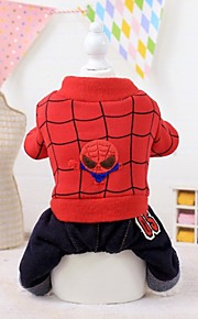 FUN OF PETS® Fashion Spiderman Fleece Jumpsuits Dogs Costume for Pets Dogs (Assorted Sizes)