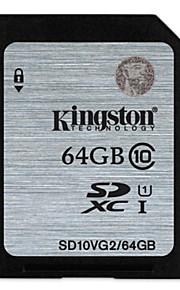kingston genuína classe sdhc 10 cartão SD original com proteção contra gravação (64GB)