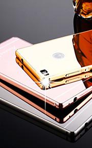 nuevo espejo chapado de vuelta con la caja del teléfono estructura de metal para Huawei p8 / p8 Lite (colores surtidos)