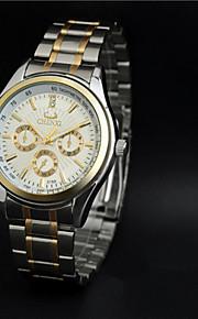 Aidu alta qualidade quartzo correia de aço relógio à prova d'água nova do homem