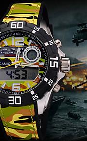 novo Dual Shock tempo relógio de pulso esportes da forma do relógio exército militar relogio relógios de marca de luxo homens quartzo