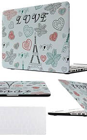 "2 in 1 LOVE Eiffel Tower Hard Plastic Cover for MacBook Air Pro Retina 11"" /13"" /15 ""with Transparent Keyboard Cover"