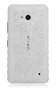 patrón de loto blanco caja del teléfono material de TPU para Nokia N640