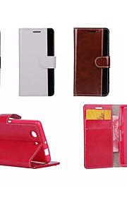 de lujo de la PU de cuero doble cartera caso color mezclado para Sony Xperia Mini z3 / Z4 / z3 Mini / Z4 / m2 / e4 (colores surtidos)
