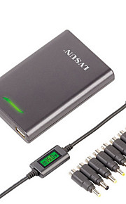 lvsun® dc 5v 1a 15mm ultra slanke universele laptop lader adapter