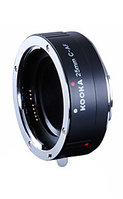 kooka kk-c25a liga de alumínio af tubo de extensão com exposição automática TTL para Canon 25mm entradas ef&câmeras SLR EF-S