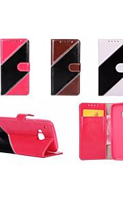 sarga bolsa cubierta de la caja cartera de cuero flip híbrido de lujo para m8 htc / m9