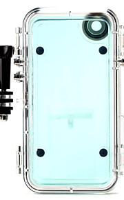 esportes extremos caso impermeável com lente grande angular + adaptador gopro para iphone6 / 6s
