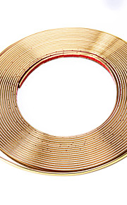 Chrome Coated Adhesive Car Window Moulding Trim Strip Line 15M x 8mm