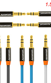 3.5mm cable de audio estéreo para / 4/3/2/1 / ipod aux coche 150cm cable de conexión iphone 6 / 6plus / 5s / 5c / 5 / 4s / 4 / ipad aire /