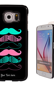 Personalized Case - Cool Mustache Design Metal Case for Samsung Galaxy S6/ S6 edge/ note 5/ A8 and others