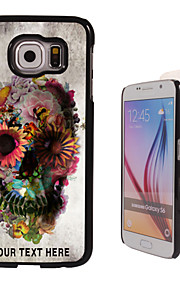 Personalized Case - Skull and Flower Design Metal Case for Samsung Galaxy S6/ S6 edge/ note 5/ A8 and others